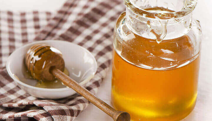 Honey has antimicrobial properties to promote healing.