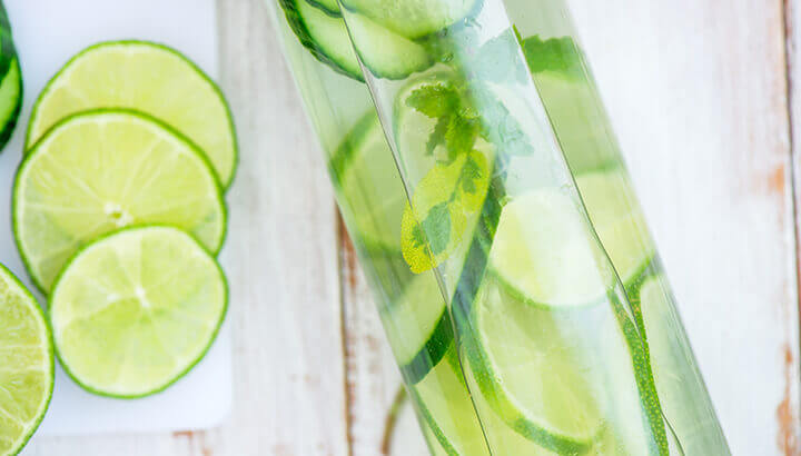 Lime juice in water is refreshing and helps the digestive system.