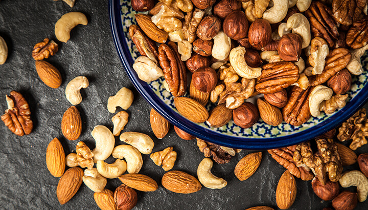 Researchers found that tree nuts, like almonds and cashews, provided post-cancer benefits.