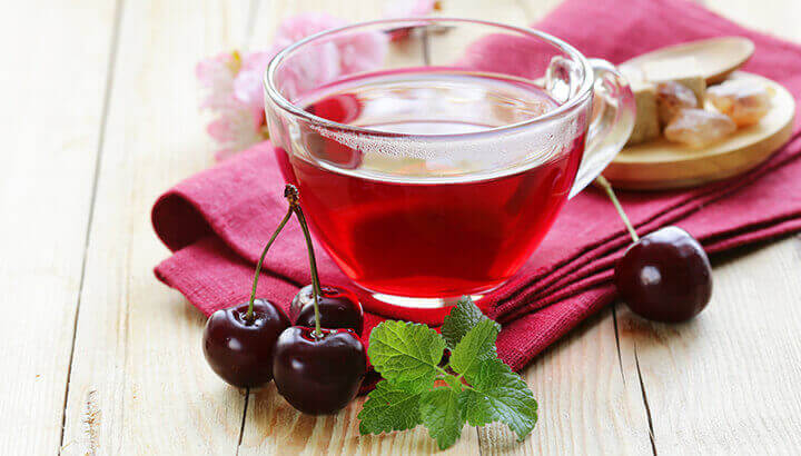 Tart cherry tea
