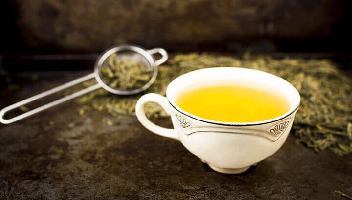 The polyphenols in green tea fend of chronic inflammation.