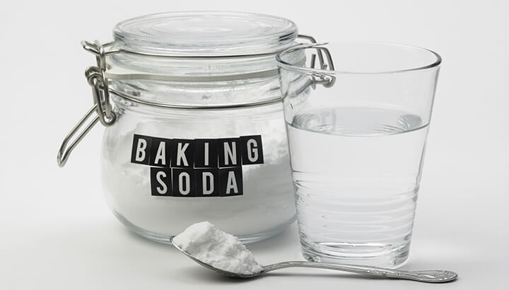 To make alkaline water, add baking soda to a gallon of water.