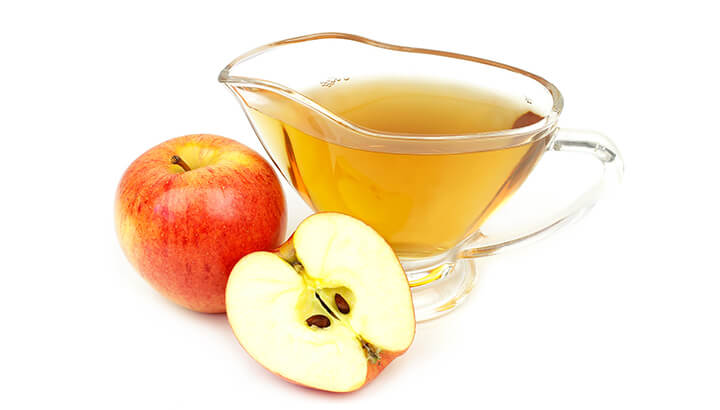 Drink apple cider vinegar and water to prevent acid reflux.