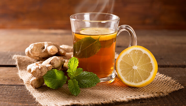 Ginger tea prevents acid reflux and calms the digestive system.