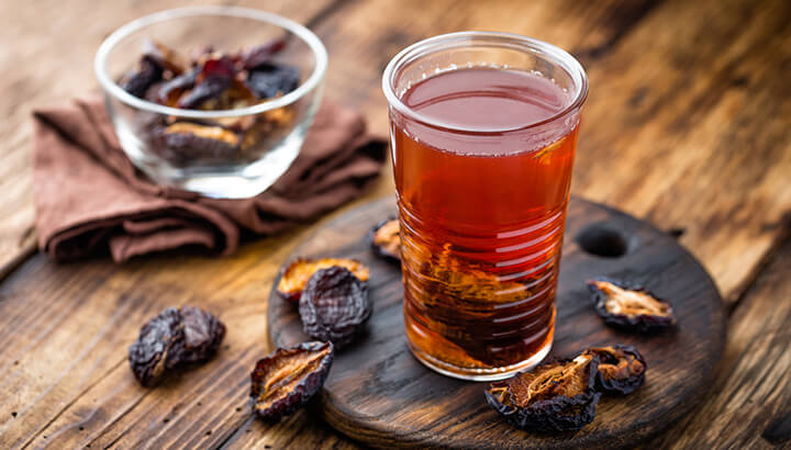 One glass of prune juice should help you poop in no time.