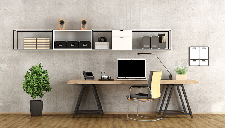 A minimalist desk will reduce stress, according to research.