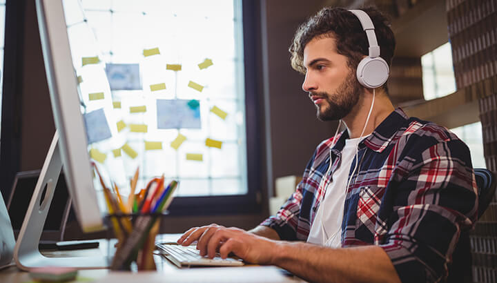 Make a work day more fun by listening to music with