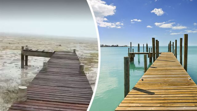 hurricane irma causes ocean to disappear in bahamas rh thealternativedaily com long island bahamas no ocean water long island beach bahamas no ocean