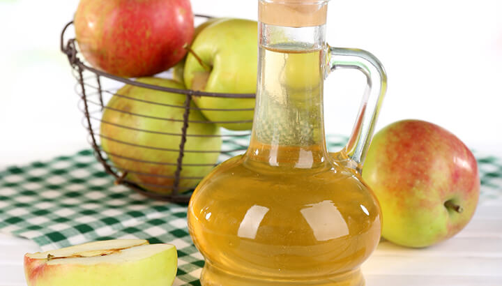 Apple cider vinegar can restore skin health from within.