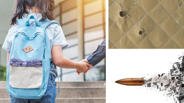 School selling bulletproof panels for students' backpacks