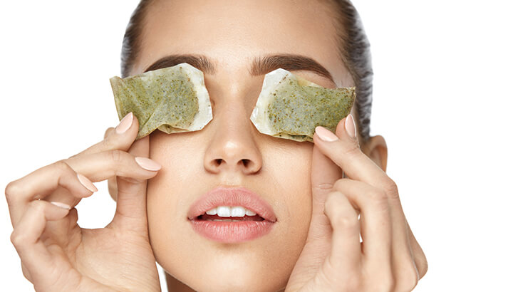Cold green tea bags can be used in place of cucumbers - The ...